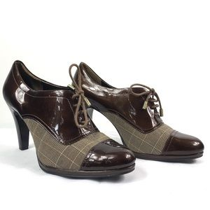 Anne Klein | Magalaxy Plaid Patent Leather Heels